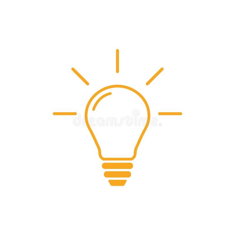 Lightbulb outline graphic design template vector illustration vector illustration