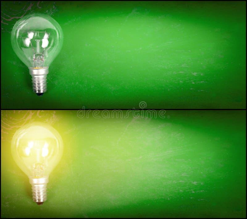 Free Lightbulb Over Green Background Stock Photos - 22489273