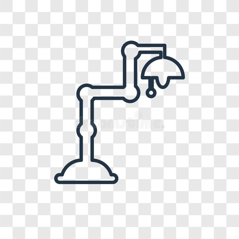 Lightbulb pojęcia wektorowa liniowa ikona odizolowywająca na przejrzystym bac ilustracja wektor