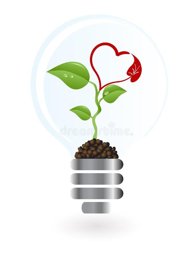 lightbulb roślina ilustracji