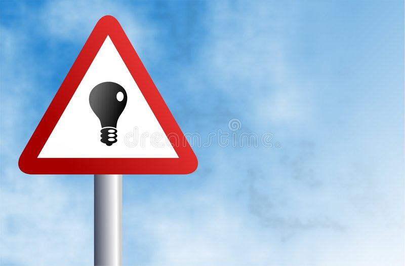 Lightbulb sign vector illustration