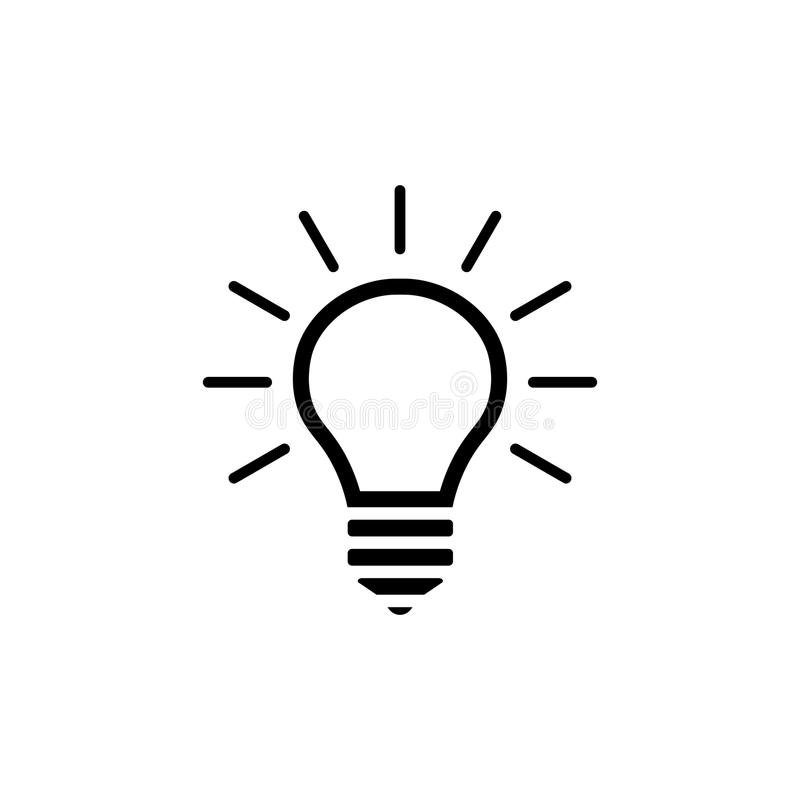 Lightbulb vector icon royalty free illustration