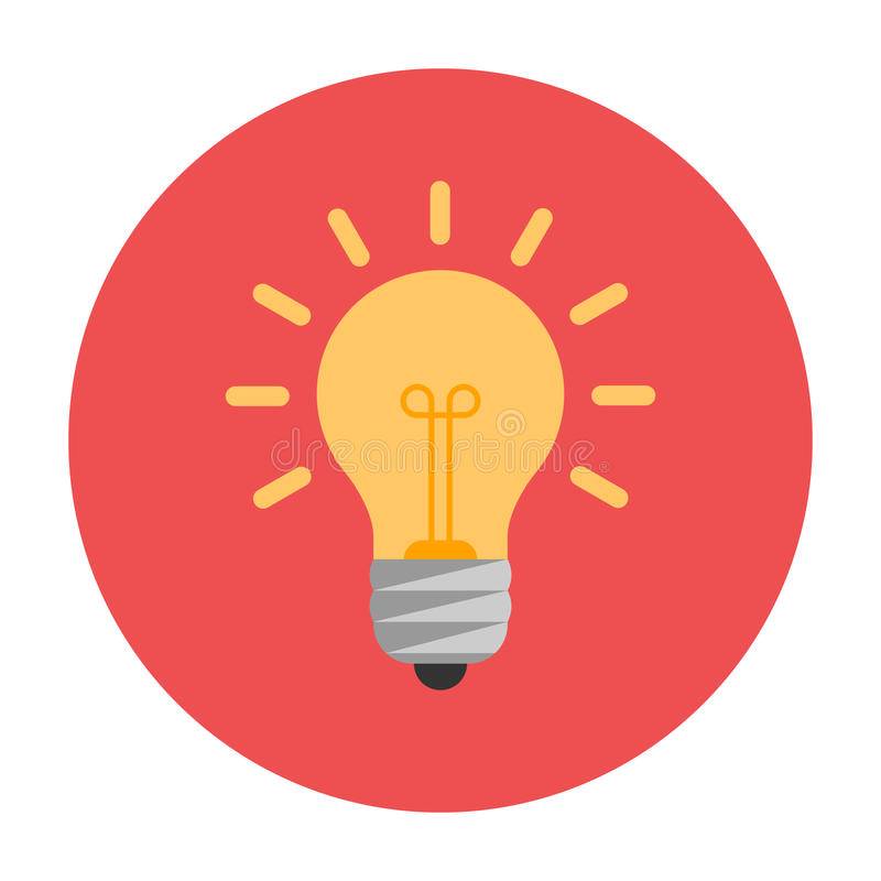 Lightbulb vlak pictogram vector illustratie