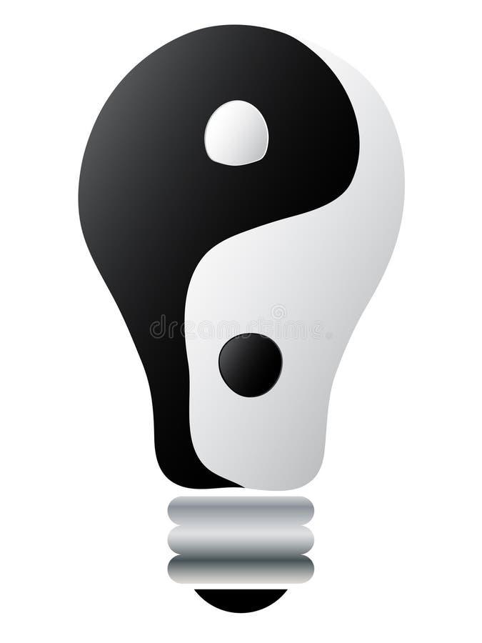 lightbulb Yang yin ilustracja wektor