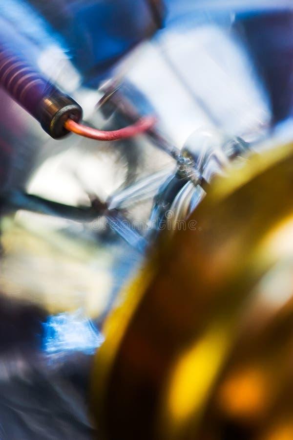 Lightbulbbeståndsdelar som tätt ses upp fotografering för bildbyråer