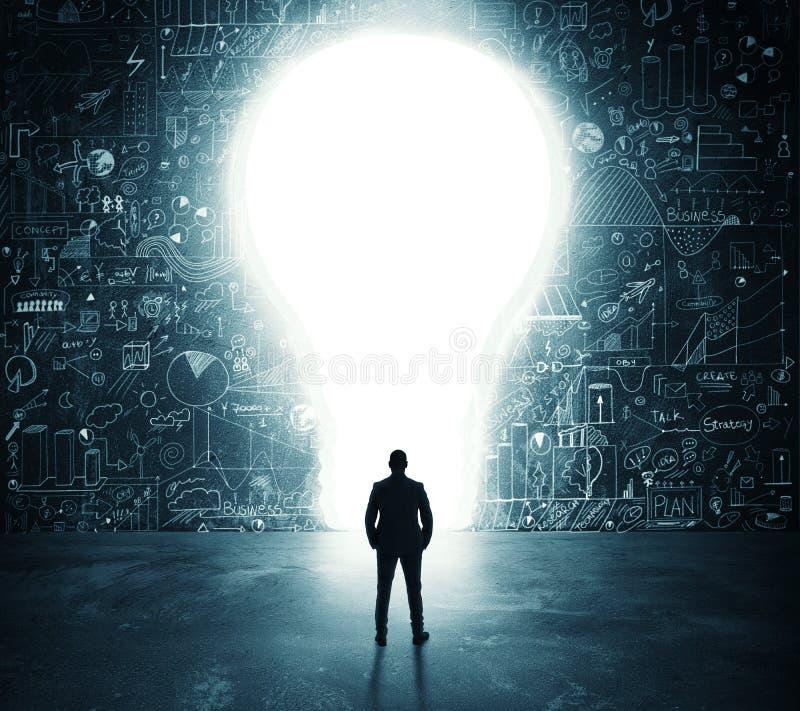 Lightbulbdörr royaltyfria bilder