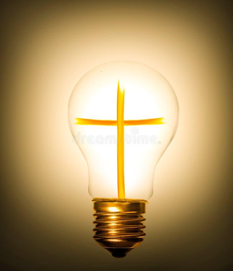 Lightbulbkruis stock fotografie