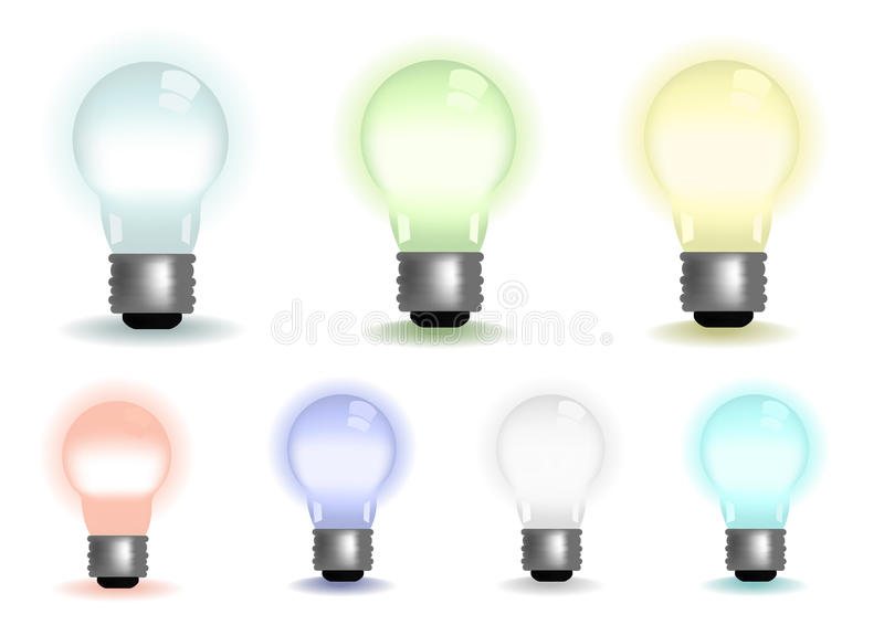 Download Lightbulbs stock illustration. Image of colorful, green - 12756329