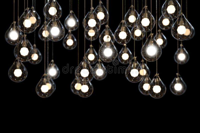 Lightbulbs en van de Lampenmacht licht idee stock fotografie