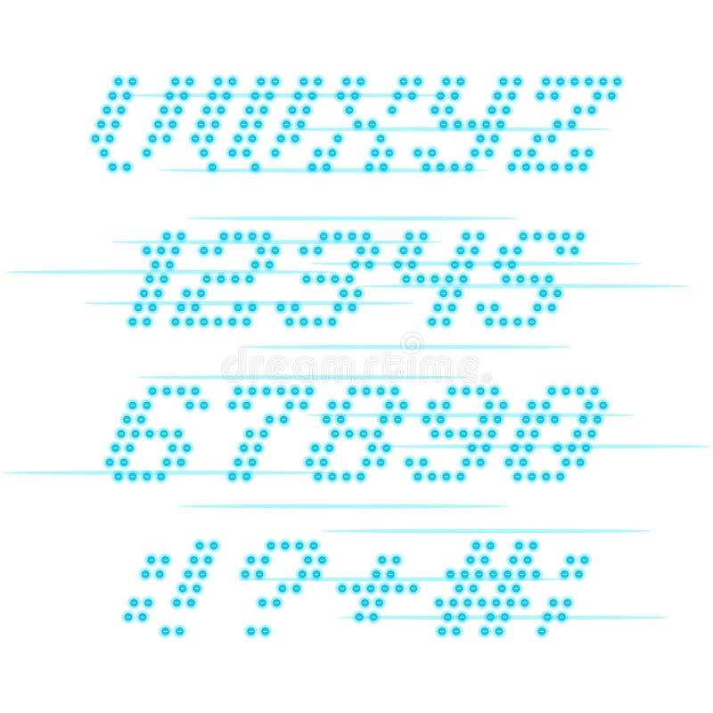 Lightbulbstilsort och nummer royaltyfri illustrationer