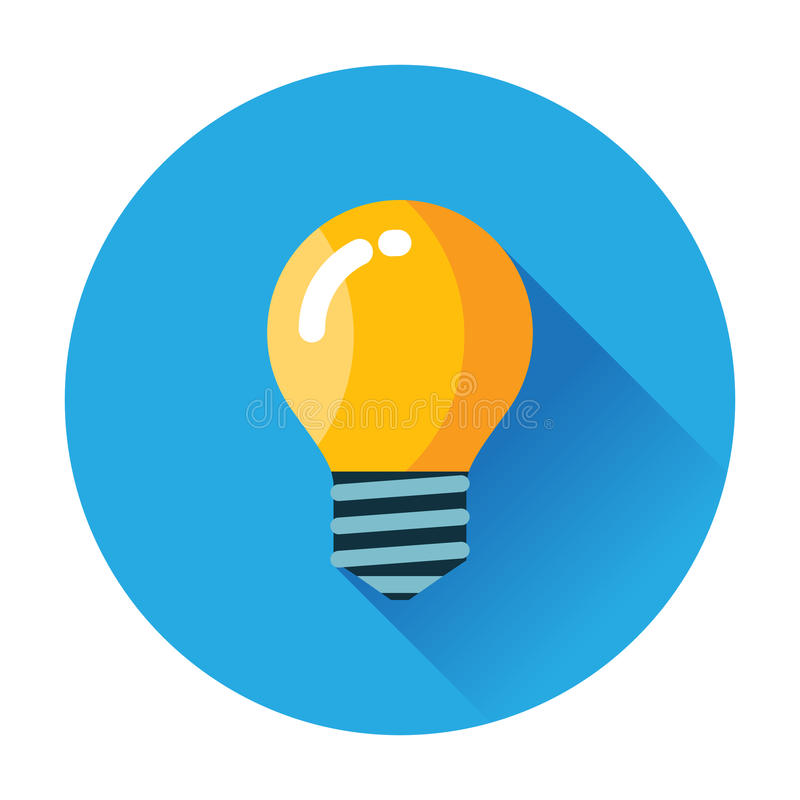 Lightbulbsymbol stock illustrationer