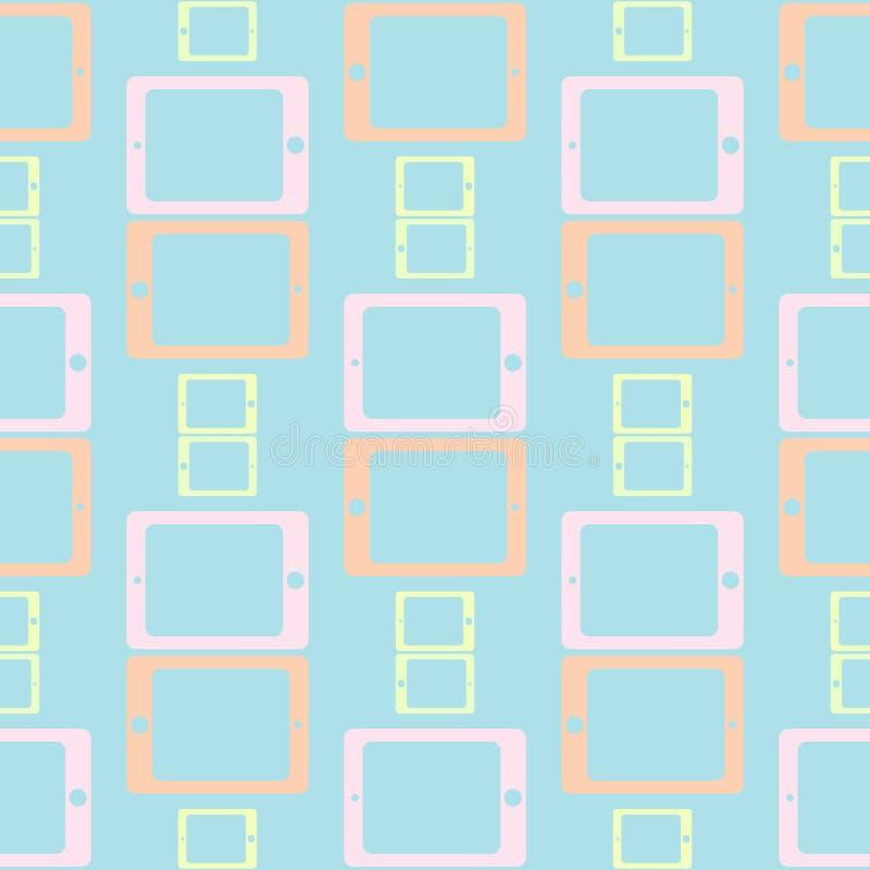 Lightcolors pastylki pecet na błękitnym tle bezszwowy wzoru zdjęcie stock