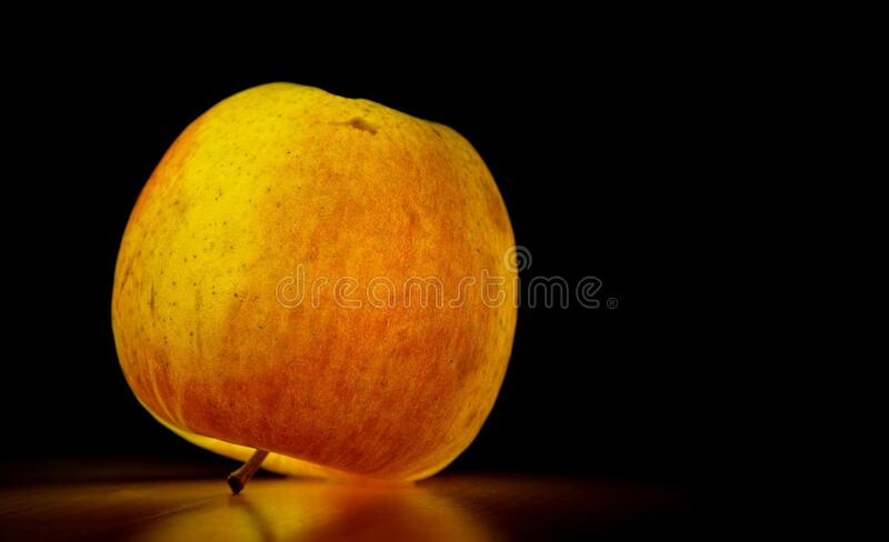 Lighted Apple Over Black Surface Free Public Domain Cc0 Image