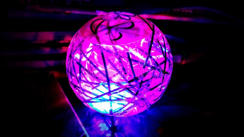 Lighted ball. Awesome dreamtime sell royalty free stock image