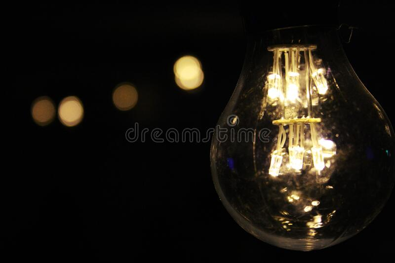 Lighted Bulb During Night Time Free Public Domain Cc0 Image