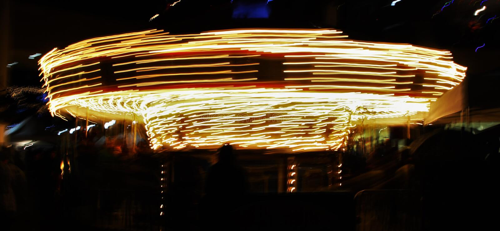 Lighted carousel royalty free stock photo