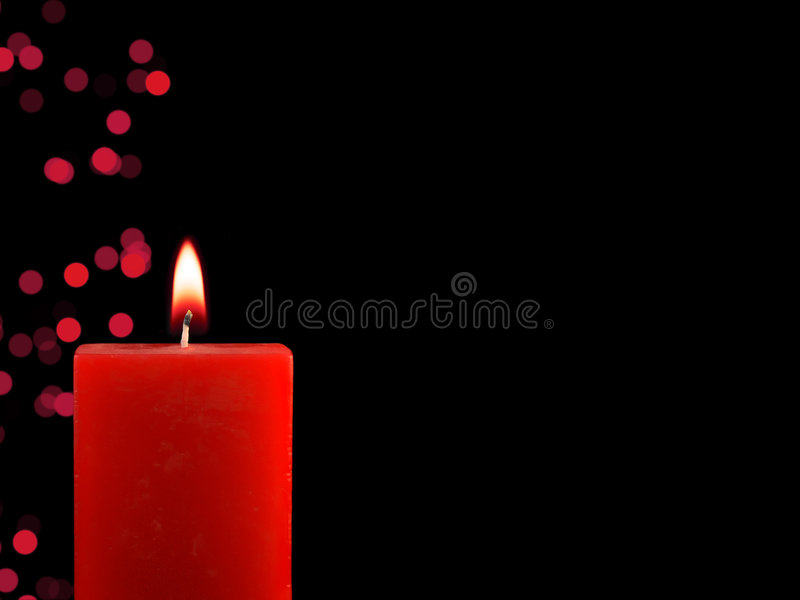 Download Lighted Christmas Candle stock image. Image of ornaments - 6910199