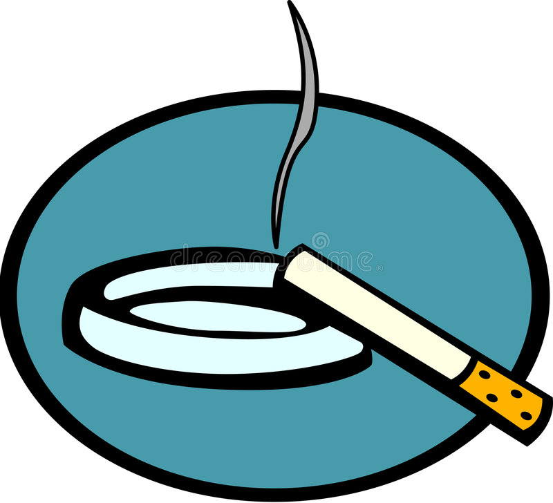 Free Lighted Cigarette And Ashtray Vector Illustration Stock Image - 4576251