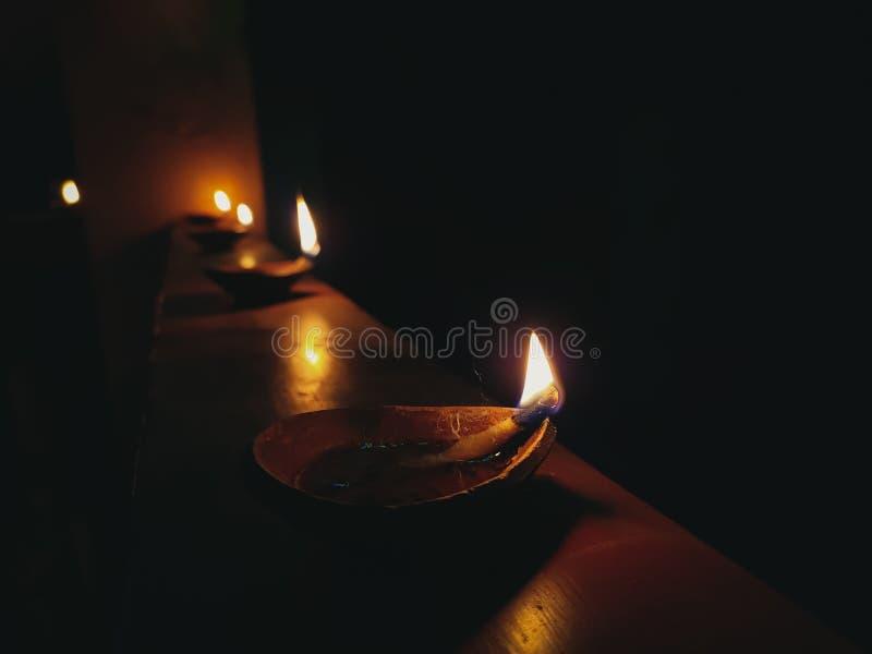 Lighted diya. Diwali, darkness, indian, festival royalty free stock photos