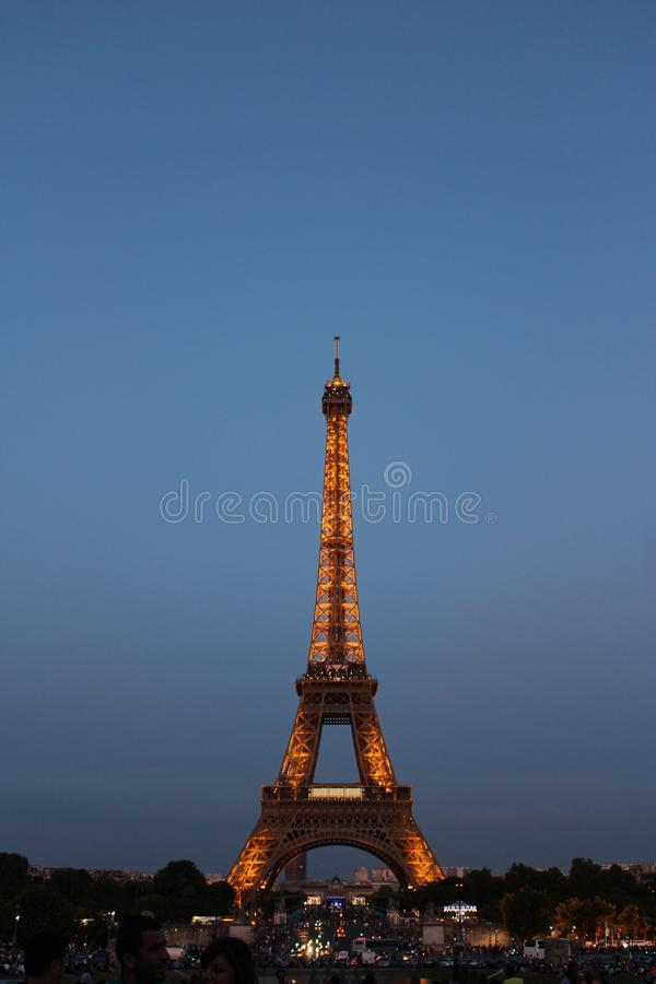Lighted Eiffel Tower During Night Time Free Public Domain Cc0 Image