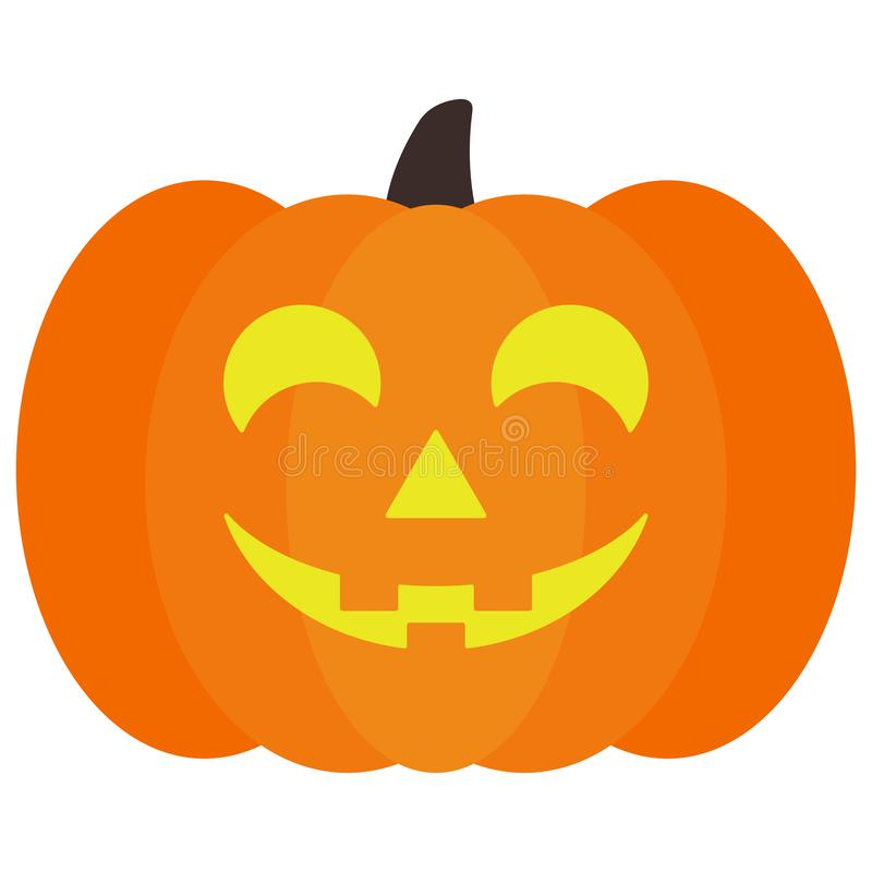 Lighted Halloween Jack O` Lantern Pumpkin royalty free illustration