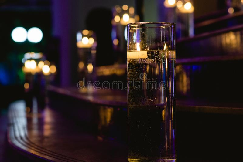 Lighted ladder with candles. Texture royalty free stock photography