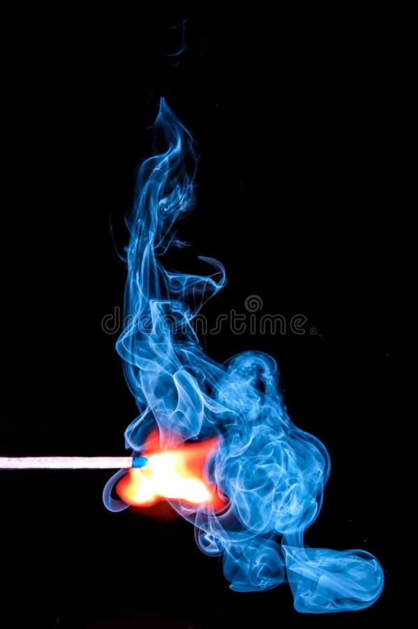 Lighted Match With Smoke On Black Background Free Public Domain Cc0 Image