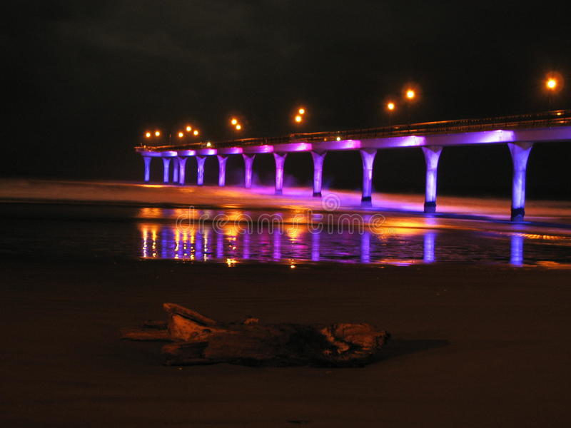 Lighted Pier stock image
