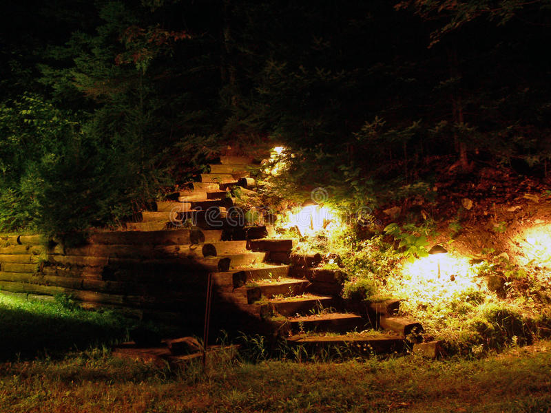 Download Lighted Stairs stock photo. Image of cottage, stairs - 15774228