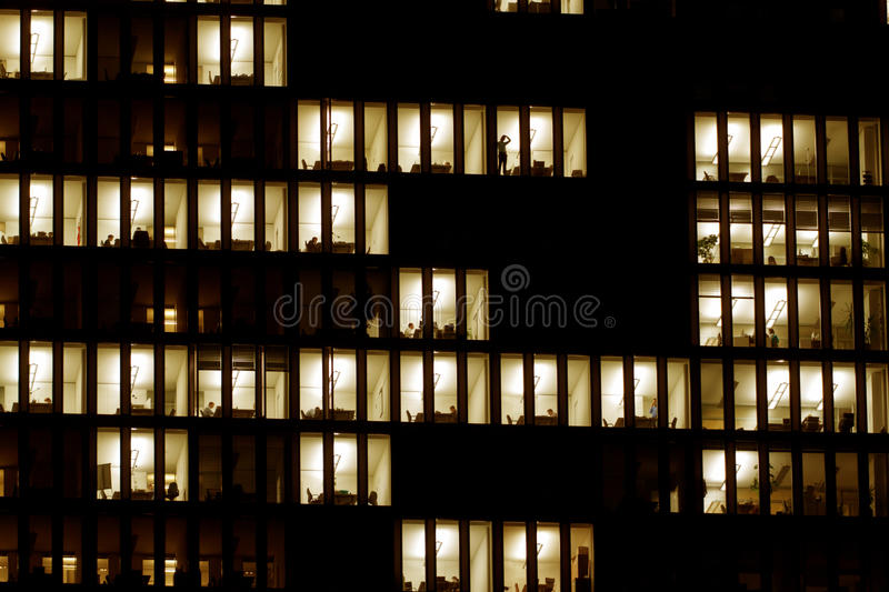 Download Lighted Windows Of An Office Building Stock Photography - Image: 17108002