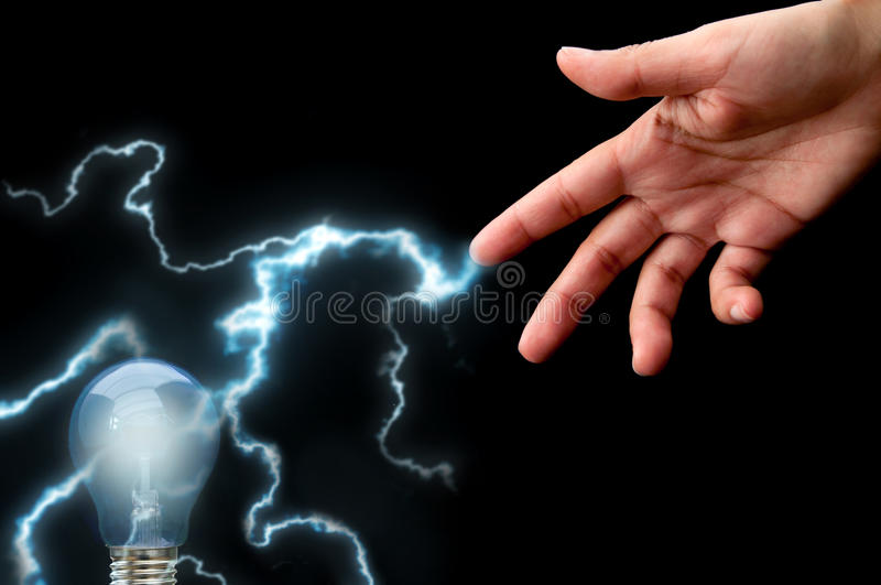 Lightening bulb stock image