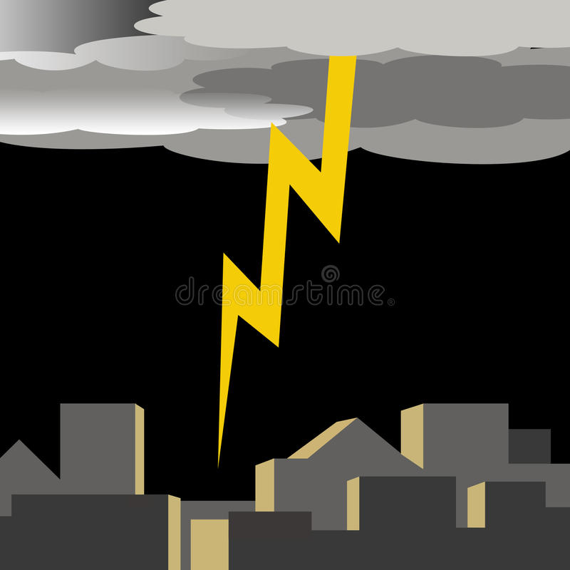 Free Lightening In The City Stock Image - 15219611