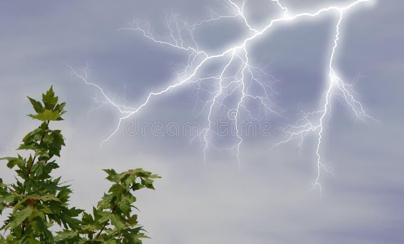 Download Lightening in Sky stock photo. Image of gloomy, dark, artistic - 159672