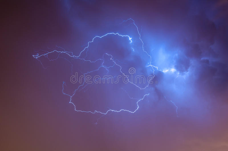 Lightening Skyscape stock images