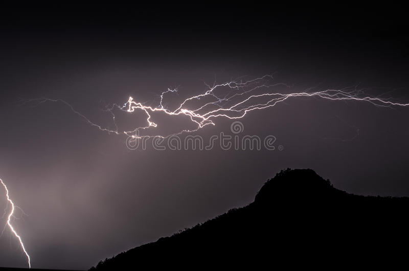 Lightening strike royalty free stock images