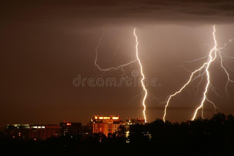 Lightening Strikes stock image