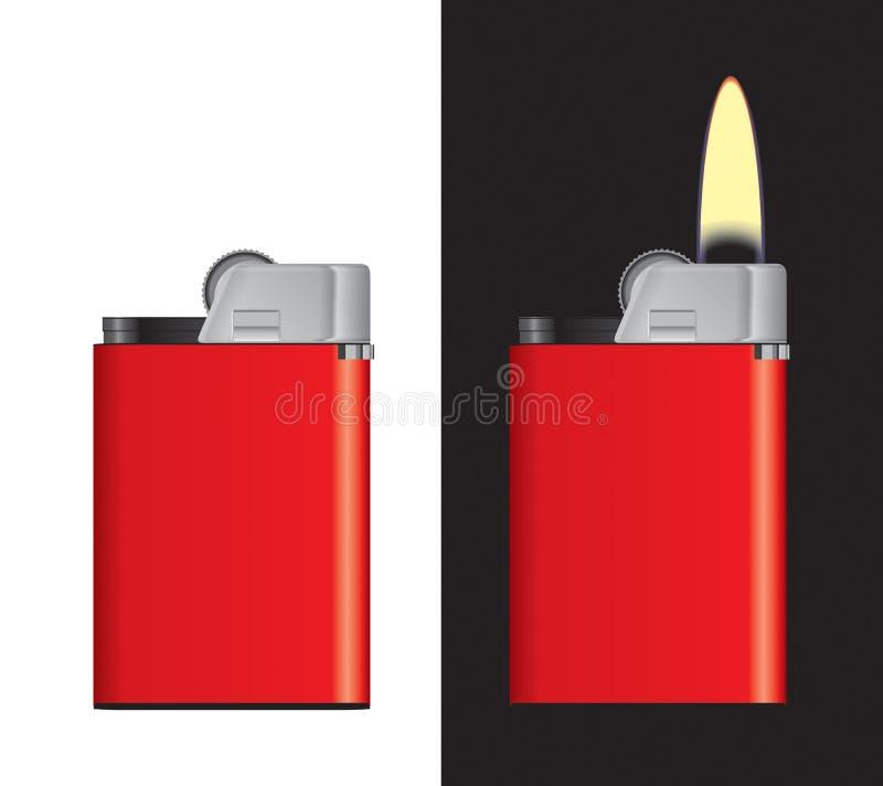 Download Lighter stock illustration. Image of blue, gasoline, flame - 23074239