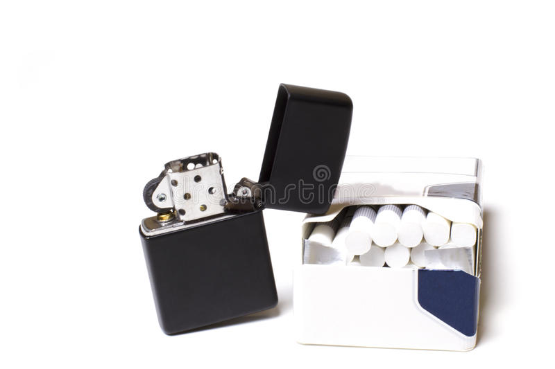 Lighter And Cigarettes Royalty Free Stock Image