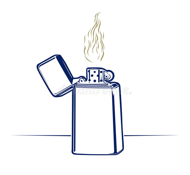 Download Lighter fire stock vector. Image of object, background - 20798370