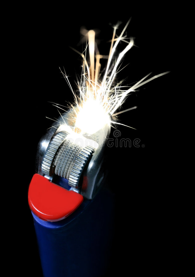 Lighter With Sparkles royalty free stock images