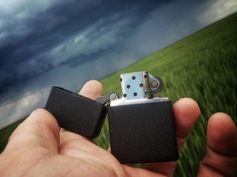 Lighter in storm royalty free stock images