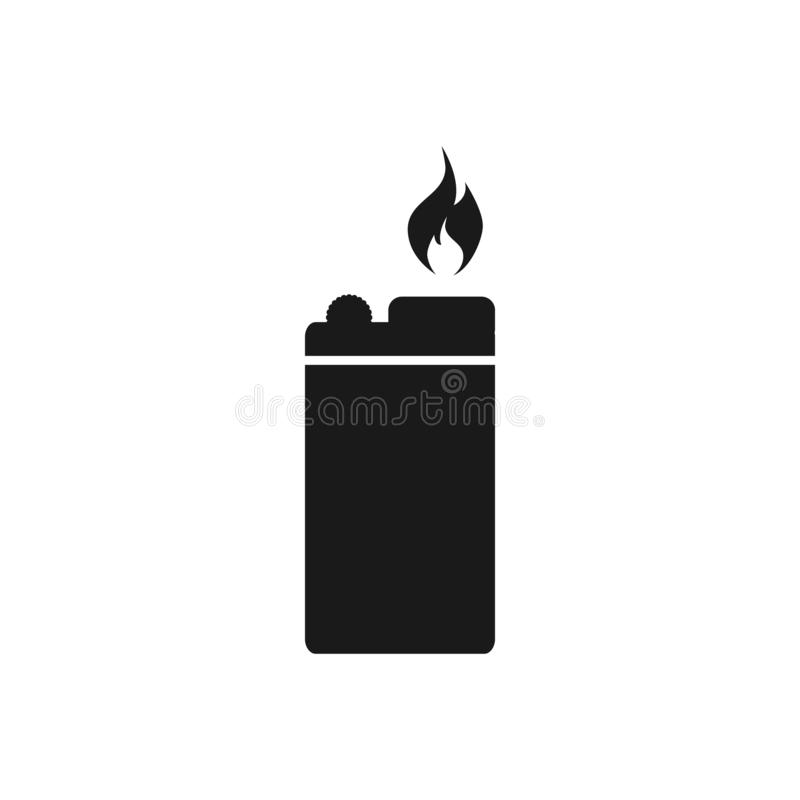 Lighter vector icon on white background  for graphic design, logo, web site, social media, mobile app, ui.  vector illustration