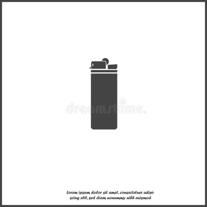 Lighter vector icon on white isolated background vector illustration