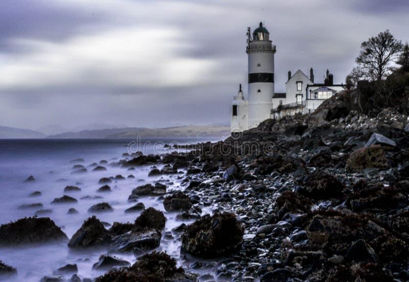 Lighthose Escocia de Cloch foto de archivo