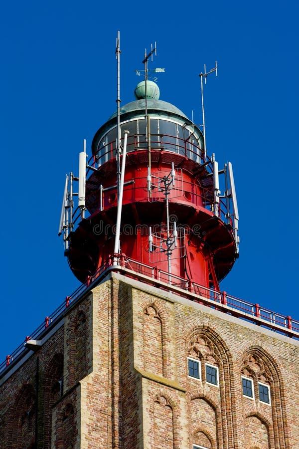 lighthouse& x27;s细节,Westkapelle,西兰省,荷兰 免版税库存图片