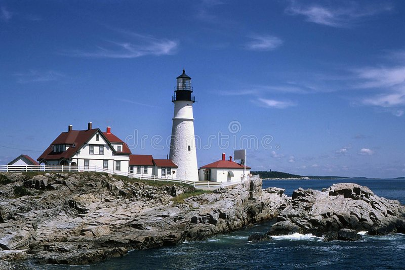 Download Lighthouse stock photo. Image of water, waves, coast, house - 1794