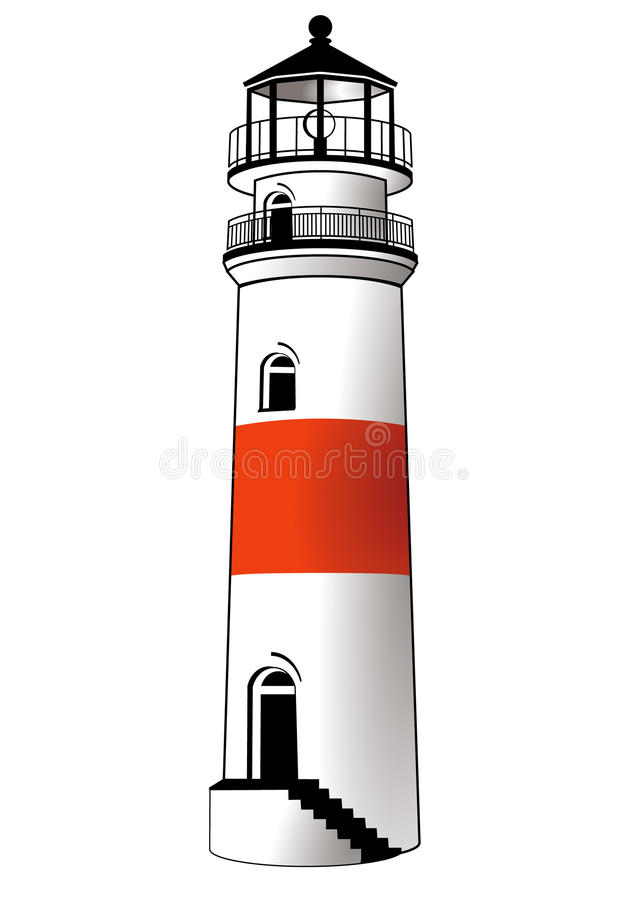 Download Lighthouse stock vector. Illustration of coast, beacon - 10536181