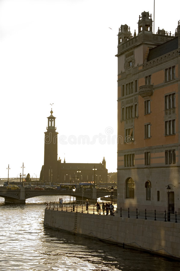 Lighthouse. Stockholm's lighthouse light from behiind royalty free stock photos
