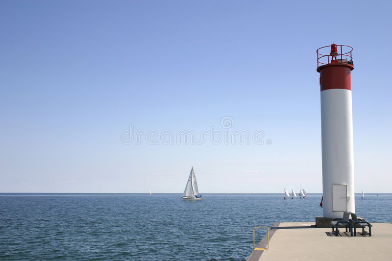 Download Lighthouse stock image. Image of boat, mark, water, sailing - 187521