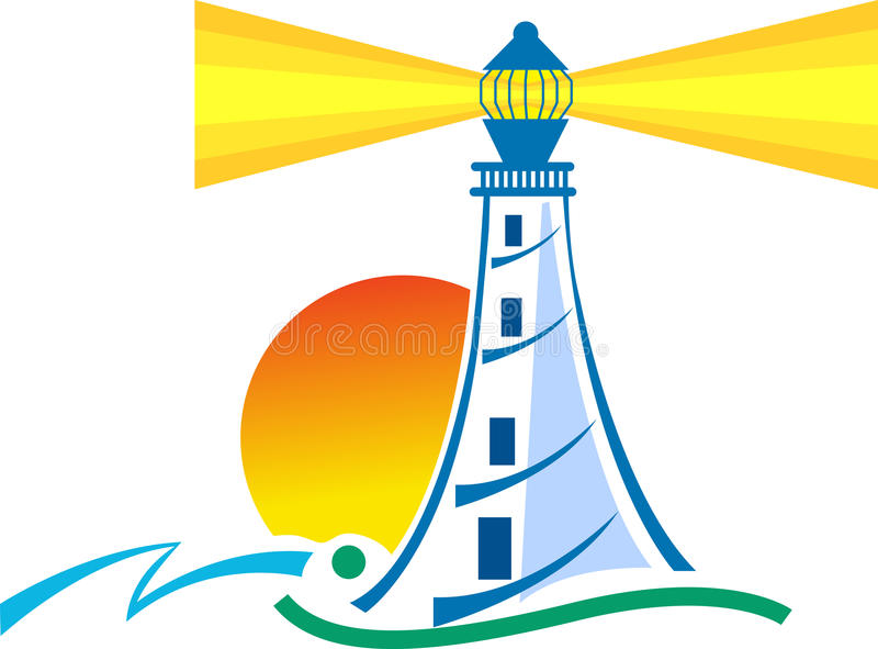 Lighthouse. Illustration art of a lighthouse with isolated background
